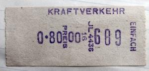 Fahrkarte Kraftverkehr DDR