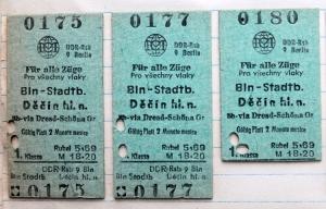 Fahrkarten der Deutschen Reichsbahn