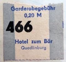 Garderobegebühr 0,20 Mark