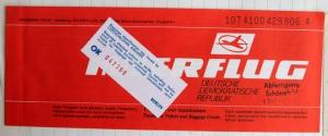 Interflug Ticket
