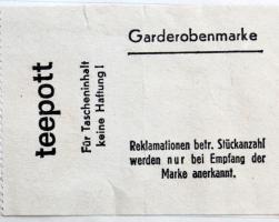 Teepott Garderobenmarke