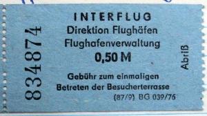Ticket für Besucherterrasse