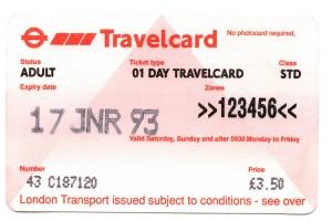 Travelcard London 1993