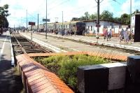 Der Bahnhof der russischen Stadt Selenogradsk im Oblast Kaliningrad