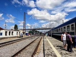 Bahnhof im südlichen Russland