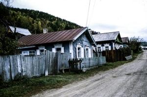 Holzhäuser am Baikalsee