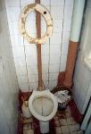 Klo in einem Hostel in Vladivostok