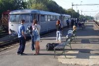 Bummelzug von Szeged nach Horgos in der Vojvodina, Serbien