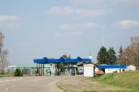 Grenzübergang an der serbisch-ungarischen Grenze bei Backi Breg