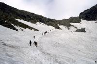 Schnee- und Eisfeld in der Hohen Tatra