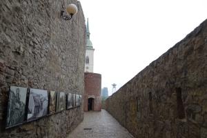 Historische Mauer in Bratislava