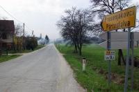 Landstraße nach Prosenjakovci und Pártosfalva in Slowenien