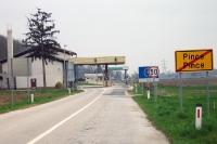 slowenisch-ungarischer Grenzübergang bei Pince