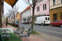 Straßencafé im slowenischen Lendava