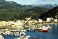 Blick auf Port de Sóller auf Mallorca