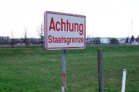 Achtung Staatsgrenze! Grenze zwischen Österreich und Ungarn