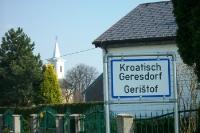 Kroatisch Geresdorf / Geristof im Burgenland im Bezirk Oberpullendorf in Österreich