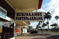 Eine Bank in Paramaribo / Suriname
