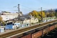 der Bahnhof von Sljudjanka am Baikalsee