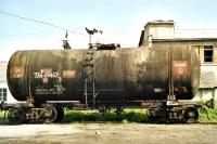 Eisenbahnwaggon mit Benzin in Sibirien