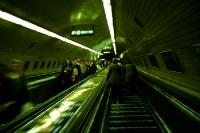 Rolltreppe der Budapester Metro / U-Bahn