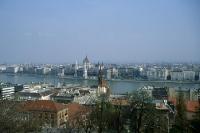 Blick auf die Innenstadt von Budapest und die Donau