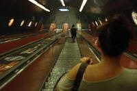 Lange Rolltreppe der Budapester Metro