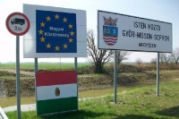 Willkommen in Ungarn! Grenze zu Österreich