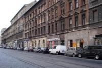 unsanierter Straßenzug in Budapest