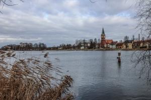 Blick auf die Insel in Werder
