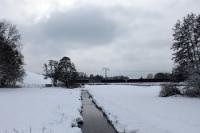 Neuenhagener Fließ bei Elisenhof im Winter