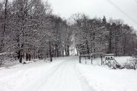 Winterlicher Weg von Neuenhagen nach Elisenhof