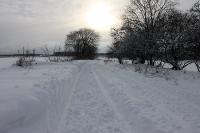 Winterlicher Weg von Neuenhagen nach Altlandsberg