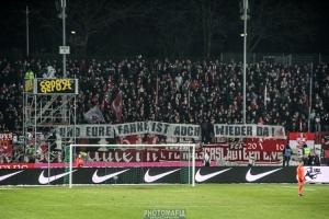 FCK-Fans präsentieren SCP-Banner