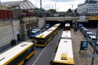 Ankunft der Kölner Fans in Dresden