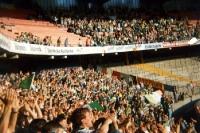 Fans von Celtic Glasgow im Müngersdorfer Stadion des 1. FC Köln, 1992