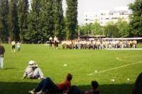 Blick auf die Boxwiese am Müngersdorfer Stadion, Mitte 90er Jahre