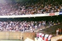 Blick auf die Kölner Jungs im 38er Block des Müngersdorfer Stadions, Anfang der 90er Jahre