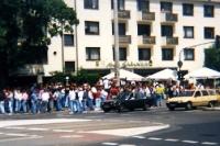 Kölner Fans treffen sich auf der Aachener Straße, Mitte 90er Jahre