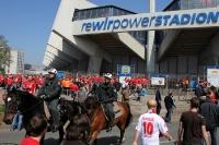 FC Köln Fans vor dem Bochumer Stadion