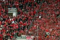 Fans und Ultras des 1. FC Köln in Mönchengladbach