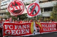 Fans / Ultras des 1. FC Köln bei der Fandemo 2010 in Berlin
