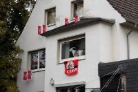 beflaggtes Haus in Köln Müngersdorf