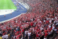 Fans und Ultras des 1. FC Köln bei Hertha BSC im Berliner Olympiastadion, 1. Oktober 2011