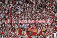 Lamm oder Hähnchen? Kölner Spruchband in Dresden