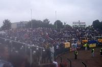 1. FC Lokomotive Leipzig mit 500 Fans zu Gast beim BFC Dynamo in Berlin