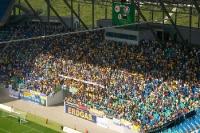 Fans des 1. FC Lokomotive Leipzig beim Derby gegen den FC Sachsen Leipzig, 2009
