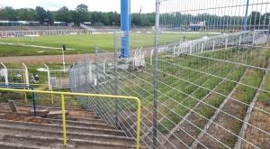 Bauarbeiten im Bruno-Plache-Stadion