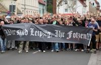 Frontbanner des 1. FC Lok Leipzig