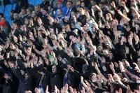 Heimblock beim Spiel Lok Leipzig gegen Magdeburg